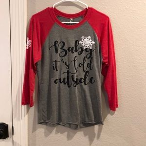Baby it's cold outside 3/4 Sleeve Tee